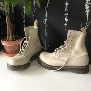 White Leather Dr. Martens